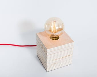 Wooden lamp, edison lamp, table lamp, design lamp, desk lamp. Lamp Barcelona by Belight Barcelona