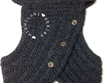 The LoRo Cowl Crochet Sweater Vest