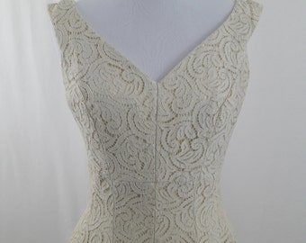 1950's Antique White Lace Dress