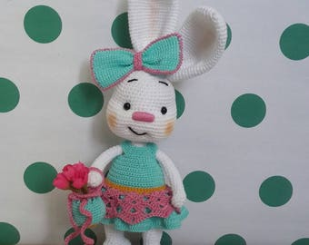 Crochet bunny /handmade bunny /amigurumi bunny /stuffed animal /stuffed doll