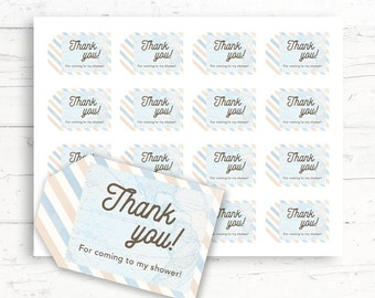 Travel Baby/Bridal Shower Printable Favor Tags, Printable Thank You Tags, Digital Download