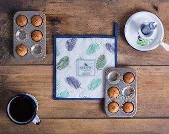 Pot holder, housewarming cook gift, soft cotton pot holder, unique kitchen gift, qualited pot holder, kitchen decor, floral pot holder,