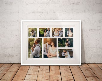 10 Pics Collage Framed Fine Art Print Anniversary Print Wedding Fine Art Print Giclee Print Custom Wedding Print Artistic Print Photos