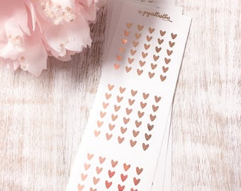 Scalloped Six Heart Checklists   Foiled mini planner stickers