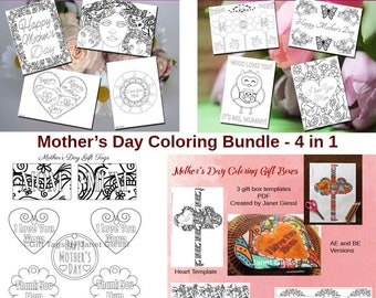 Mother's Day Coloring Bundle - 4 in 1 (Save 50%)