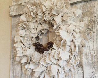 Dropcloth Scrap Wreath