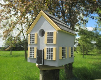 Old Quebec Birdhouse, Charming Birdhouse, Handmade Bird House, Outdoor Wood Birdhouse, Functional Birdhouse, Unique Wooden Birdhouse