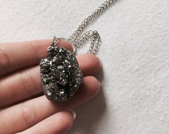 Metallic Druzy Necklace