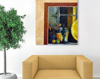 Still Life Painting, Kitchen Painting, Canvas Oil Painting, Wall Art Decor, Fine Art Painting, Wall Decor, Canvas Art, Wall Art Canvas,