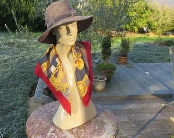 Vintage french designer CELINE - 70' - Silk Scarf-french fashion Scarf