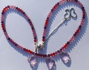 Rosy Heart Crystal 15%off Mother's Day Sale
