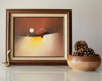 Abstract Oil Painting -- 8x10 Painting -- Landscape -- 1980's Painting
