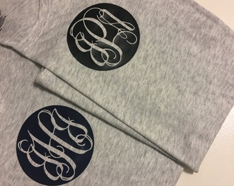 Personalized initial tee