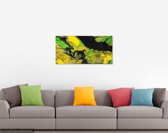 Acrylic Fluid Painting - Midnight Oil - 10x20