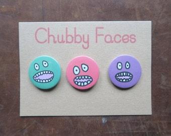 Chubby Faces Badges