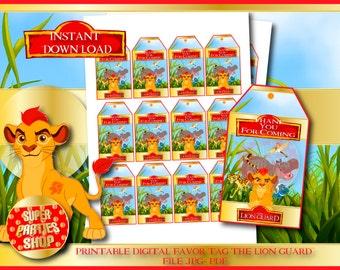 the lion Guard Digital  Printable Favor Tags, the lion guard favor tag ,the lion king favor tag , kion favor tag, simba favor tag,lion party