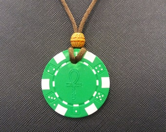 Ankh Poker Chip Medallion