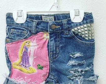 Rapunzel - Disney - Disneyworld- Disneyland - flin rider -Rapunzel party- Rapunzel Shorts- vacation- Shorts- Toddler Rapunzel Shorts