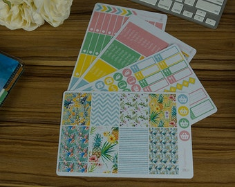Tropical Toucan Weekly Kit [130 x Matte] Perfect for your Erin Condren & Happy Planner!