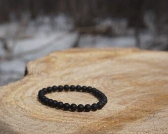 Matte Black onyx - Beaded Bracelet