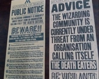 Public Notice and Advice Harry Potter Posters