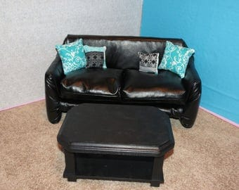 American Girl Faux Leather Couch Set