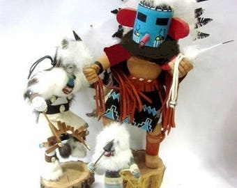 Kachina Dolls made  by Najavo - This set of 3 dolls in 3 sizes- Original Dolls