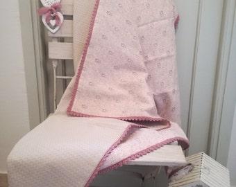Double Sided Blanket/Linen Baby Blanket/Cotton Waffle Blanket/EcoFriendly Blanket/Toddler Blanket/Newborn Gift/Baptism Gift/Baby Shower Gift