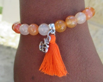 Beautiful carnelian bracelet.
