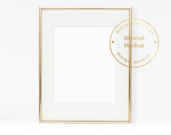 Frame Mockup, 8x10 frame mockup,frame mock-up, simple frame mockup minimal artwork template digital background modern art photography golden