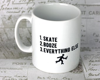 Roller derby skater mug, great gift for your derby wife or for your derby widower,