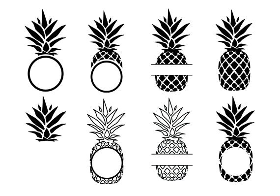 Pineapple Svg Pineapple Vector Graphic Pineapple Cut