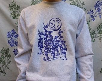 Sweatshirt sleeves long silkscreen Catch the Moon - M/F