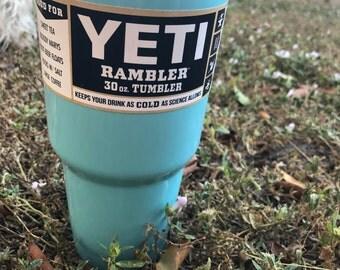 Yeti Baby Blue Powder Coated 30oz