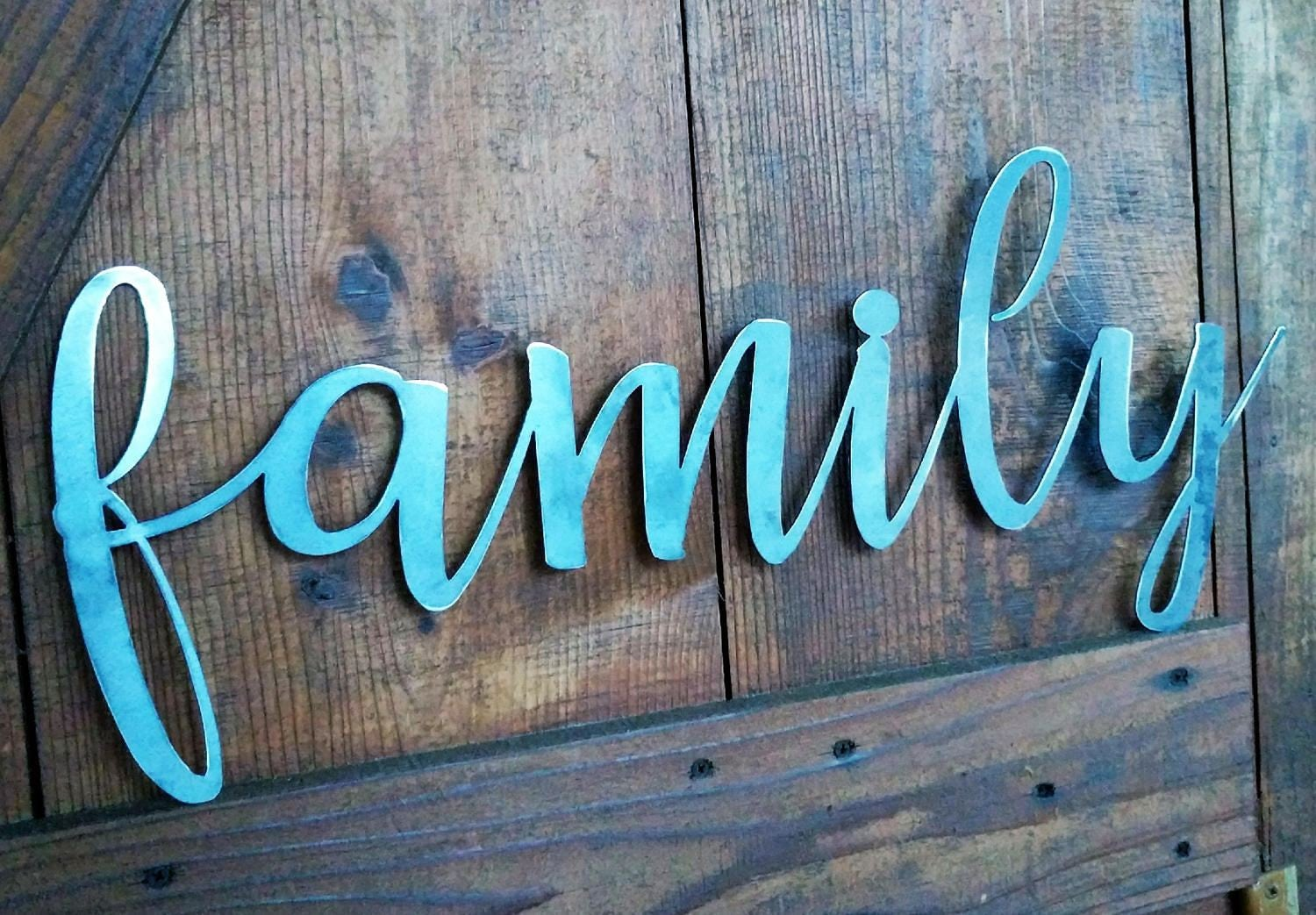 Metal family sign the word family family sign metal words metal gallery photo gallery photo amipublicfo Gallery