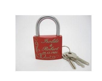 Love lock with engraved lock laser padlock bridge Castle