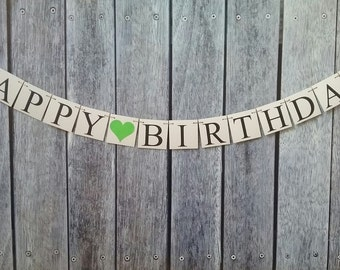 HAPPY BIRTHDAY banner,custom birthday banner, birthday sign, birthday decorations, birthday photo backdrop, birthday ideas