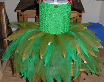 Christmas Tree Tutu Dress, Seasonal Dress,  Tree Costume