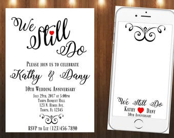 We still do|Invitation|Snapchat Geofilter|Vow Renewal