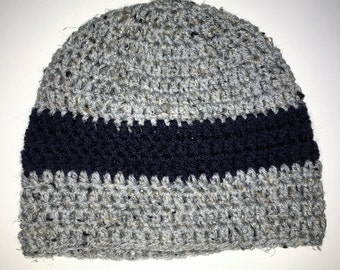 Gray Marl and Navy Hat