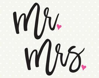 Wedding SVG file, Bride and Groom svg file, Mr and Mrs svg, Wedding Iron on svg, Wedding dxf file, SVG cut file, SVG download