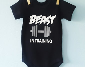 Beast in training baby Onesie - Baby Bodysuit - Baby bodyvest - Baby Grow - Baby Clothes