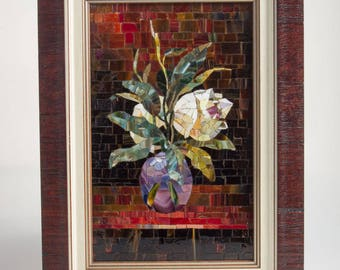 Mosaic flower, Tulip in a vase