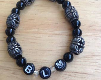 Black Lives Matter Solidarity Stretch Bracelet--One Size Fits All