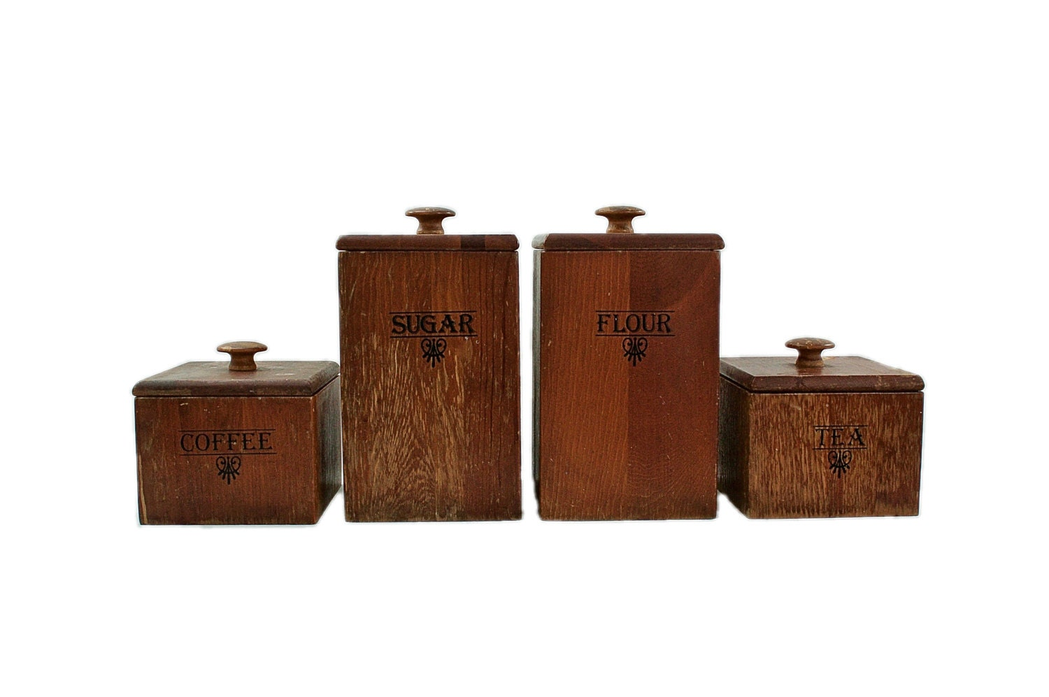 wooden canisters kitchen kitchen canister set vintage wood canisters 1960s mid 9391