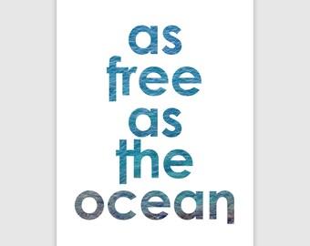 Ocean Print   DIN A3   Ocean Wall Art   Ocean Art   Typography Print   Typography Wall Art   Living Room Decor   Kitchen Decor