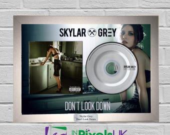 Skylar Grey - Don't Look Down CD Frame Presentation Wall Art Custom Made Rare