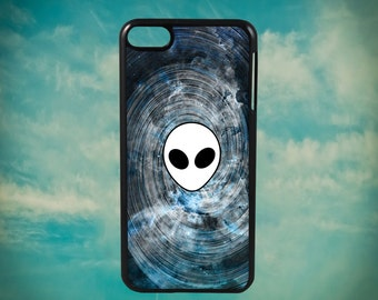 Galactic Alien in Space Swirl Emoji Head for Apple iPod Touch 4th Generation, iPod 5th Generation and iPod 6th Generation iPod Case