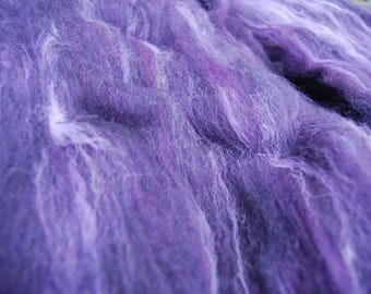 Hand-dyed & blended Batts | Extreme Purple  - 2 @ 50g