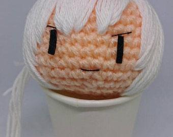 """Amigurumi doll head """"charatama"""""""